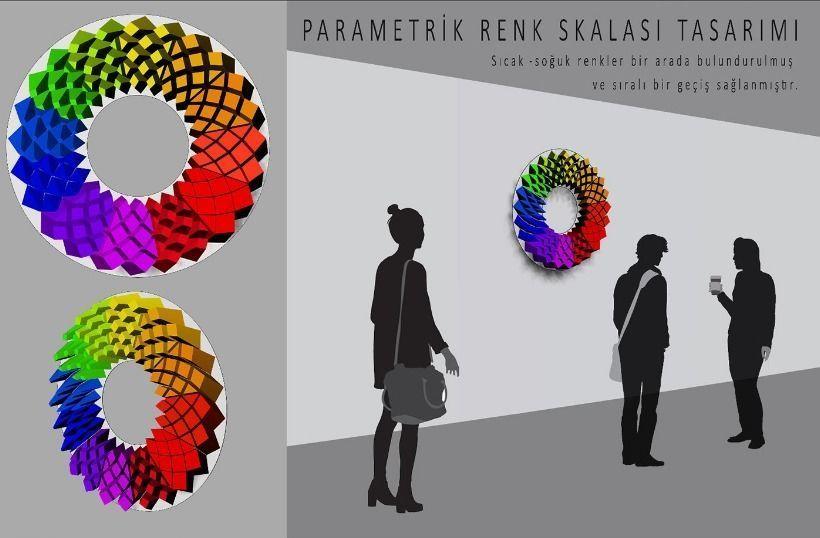 Three Dimensional Parametric Color Circle