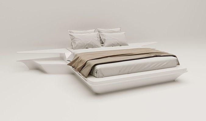 Modern hotel bed