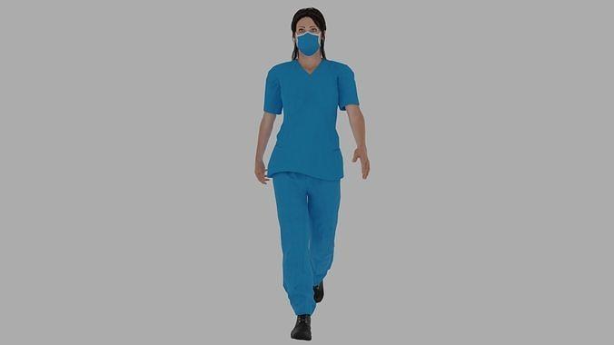 Rigged Nurse character 1