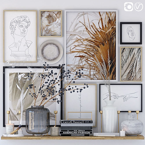 Decorative set with posters