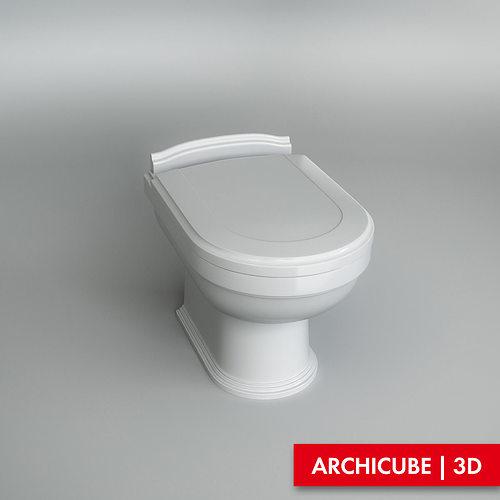 Toilet wc 02 3d model max obj fbx - Toilet model ...