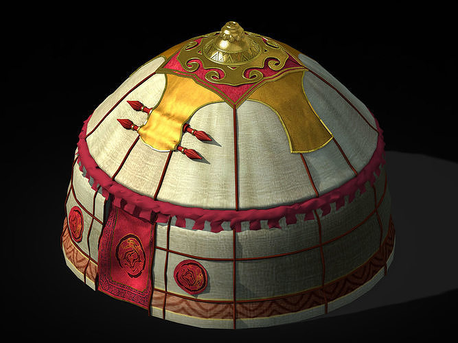 Yurt-tent-red style 02