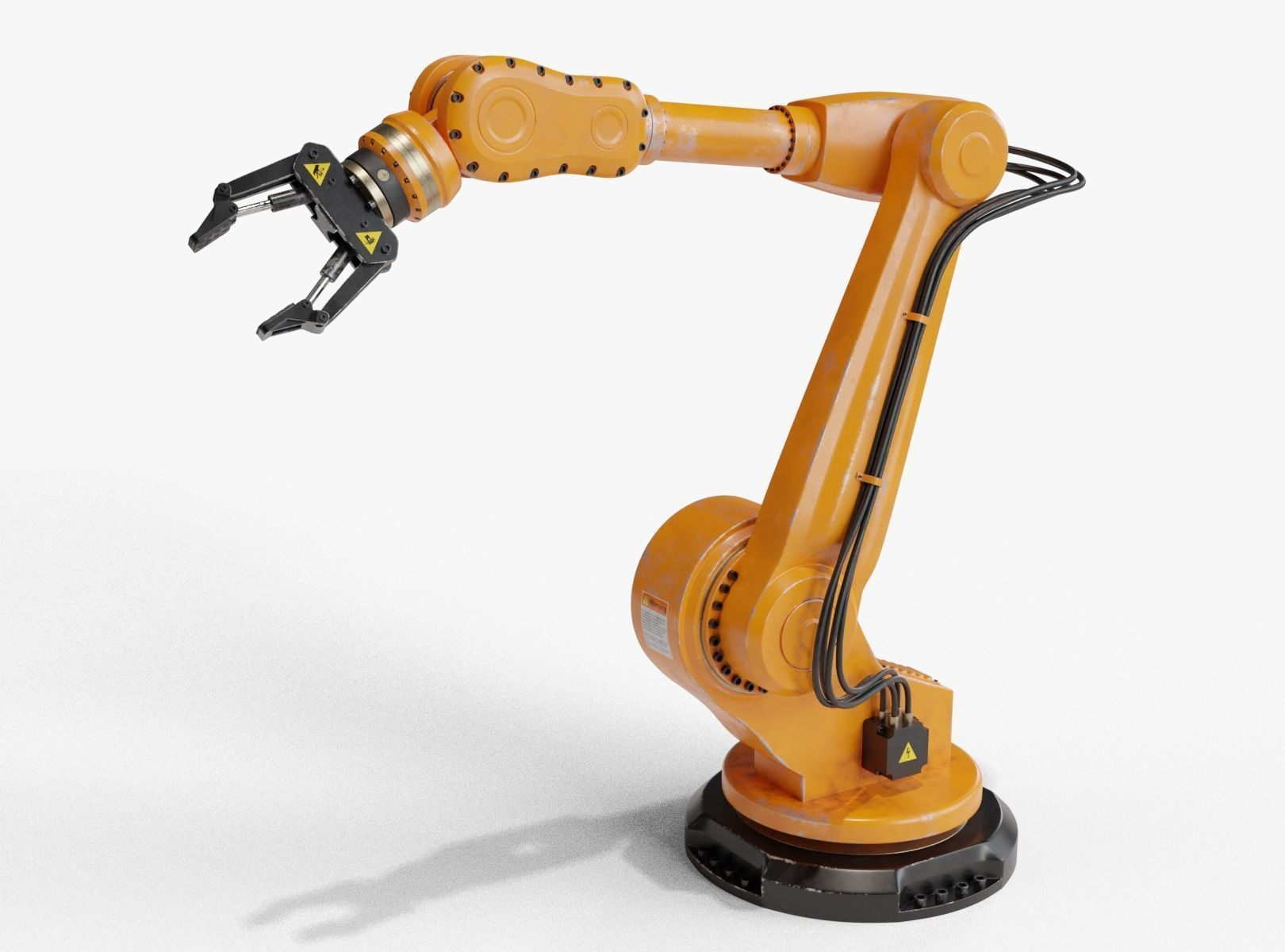 Industrial robot arm dirty