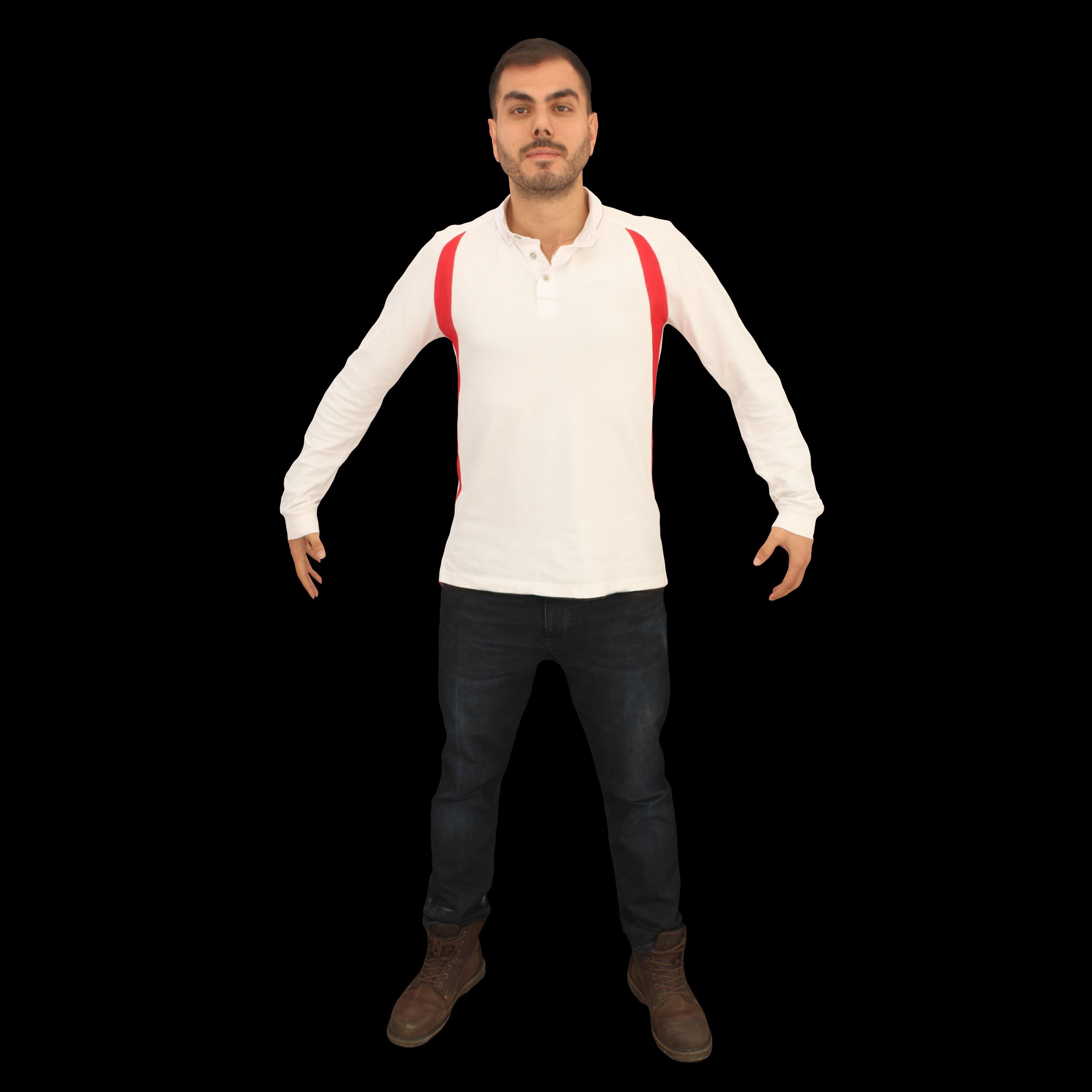 No453 - White Male A Pose