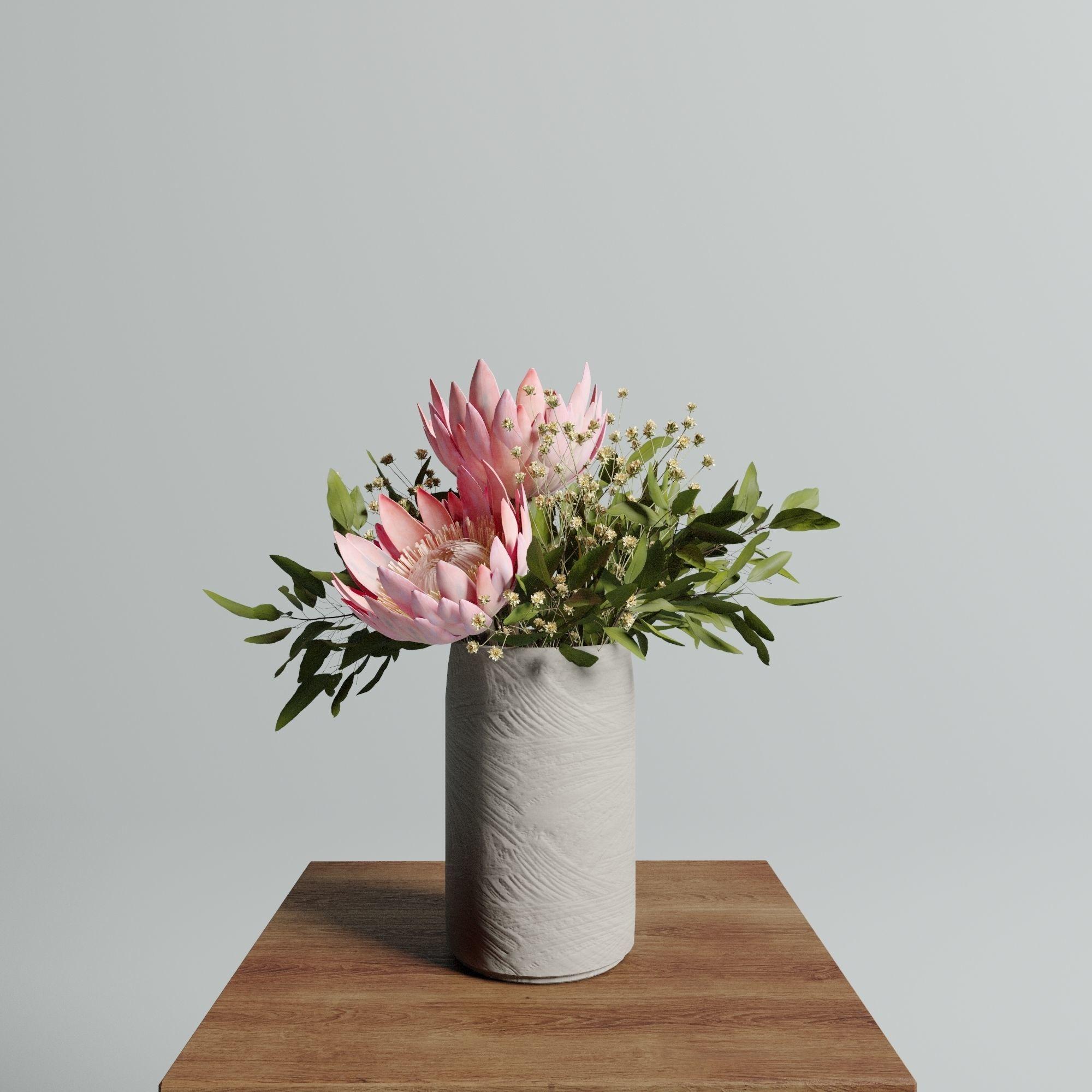 Protea set of flowers