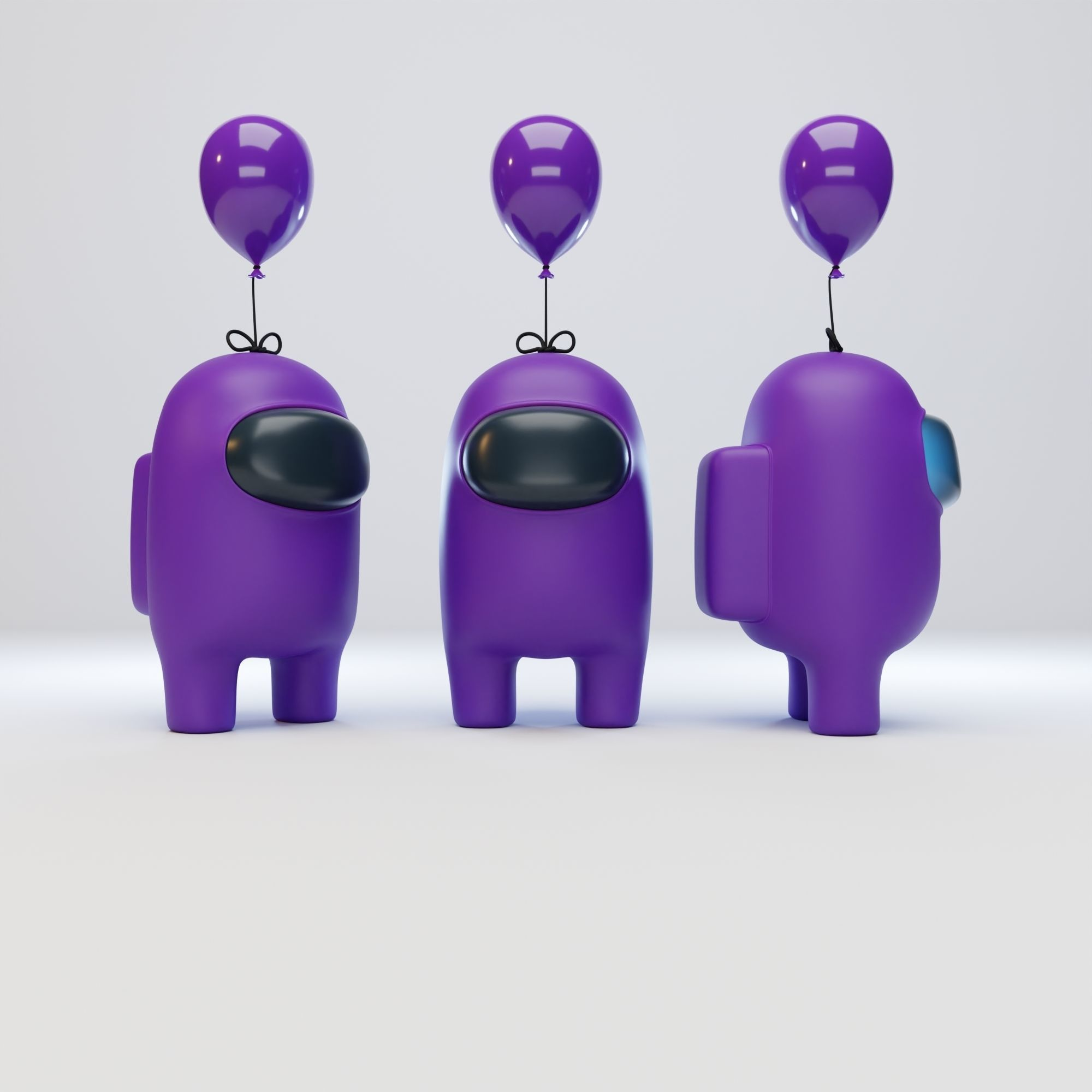 Among Us Mini Balloon Character
