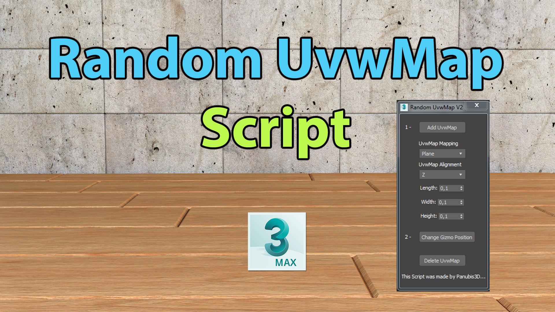 Random UvwMap Script