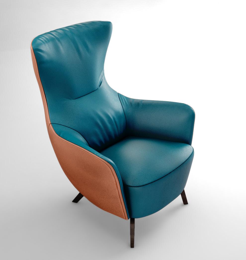 ... poltrona frau italy mamy blue armchair 3d model max obj mtl ... e109ebc0172