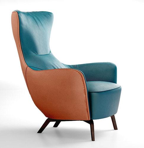 poltrona frau italy mamy blue armchair 3d model. Black Bedroom Furniture Sets. Home Design Ideas