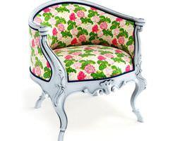 Multicolored retro armchair 45 am122 3D
