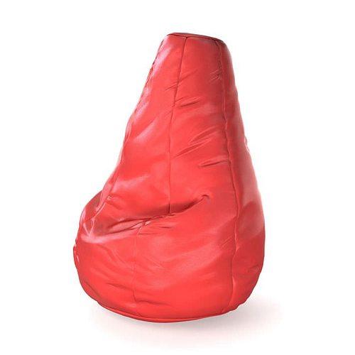 Red bean bag chair 21 am121 3D model - 3D Model Red Bean Bag Chair 21 Am121 CGTrader