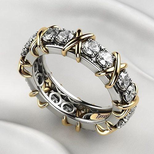 Tiffanys Style Gold X Ring