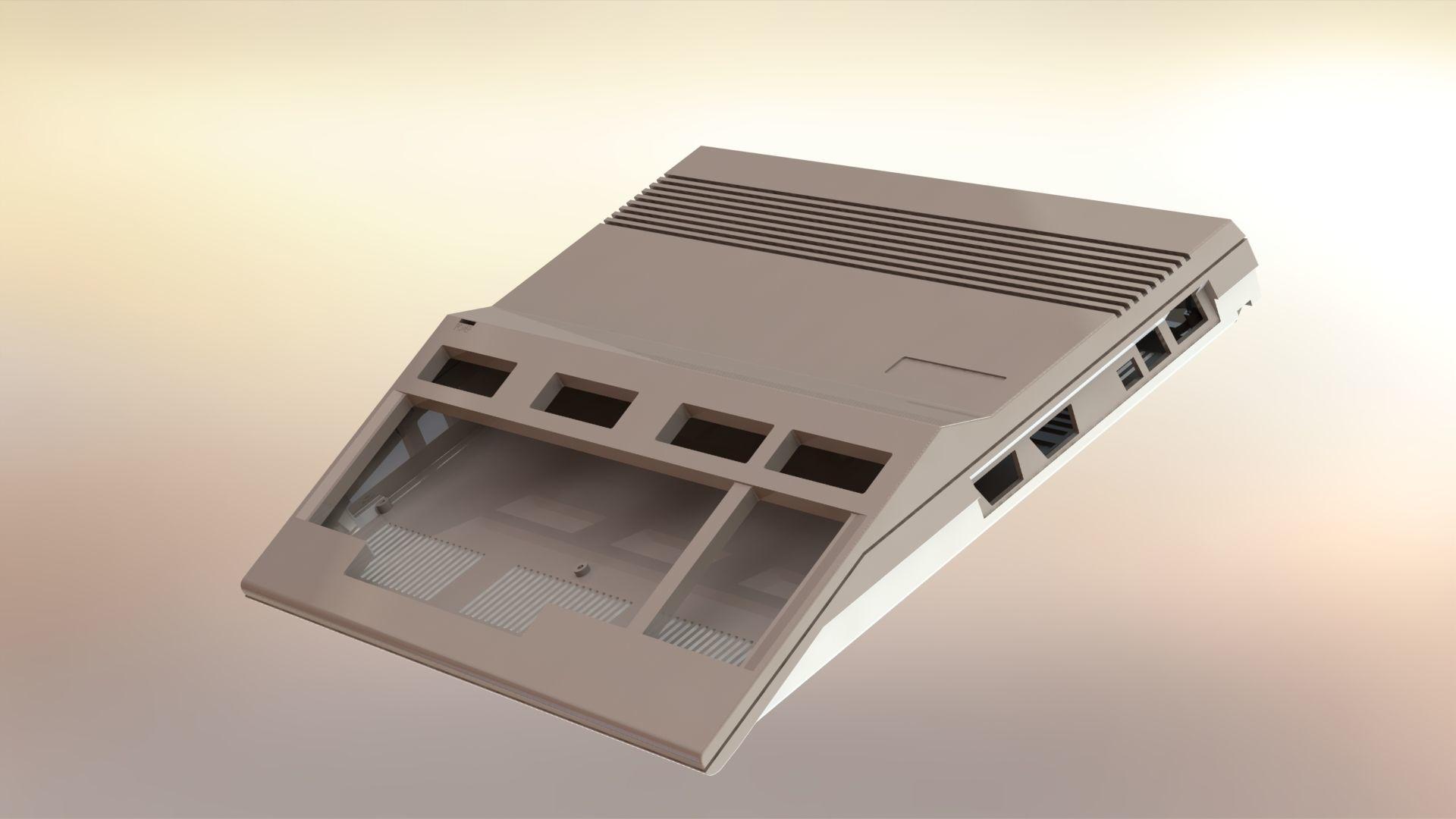 Commodore 128 enclosure 3d print model