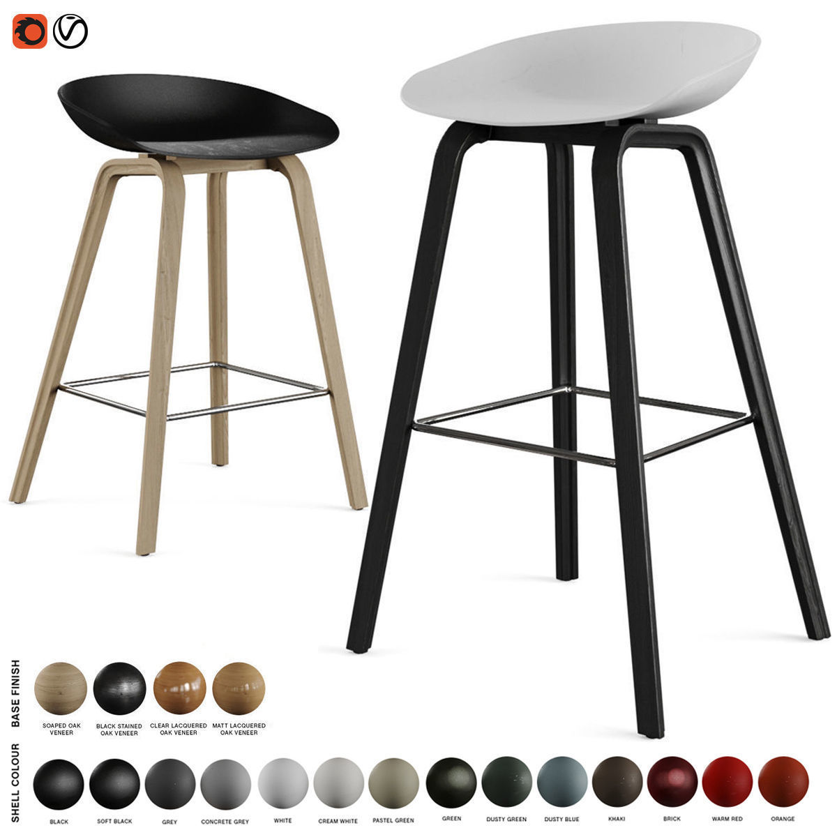 Hay - About A Stool Barstool and Counter Stool AAS 32