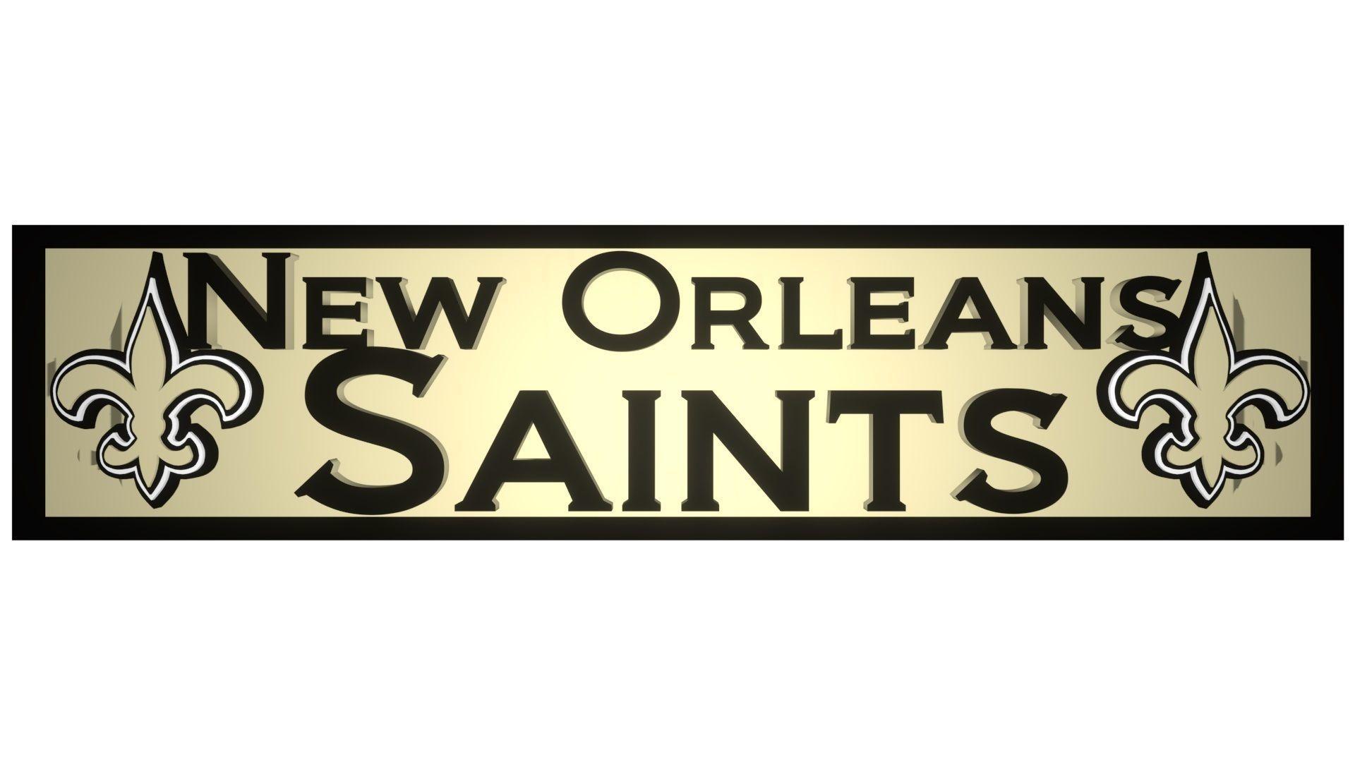 New Orleans Saints plate