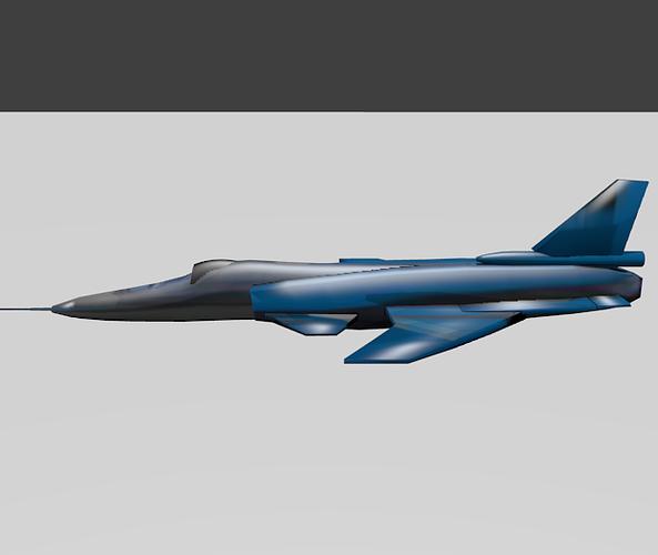 jet plane 3d model blend 1
