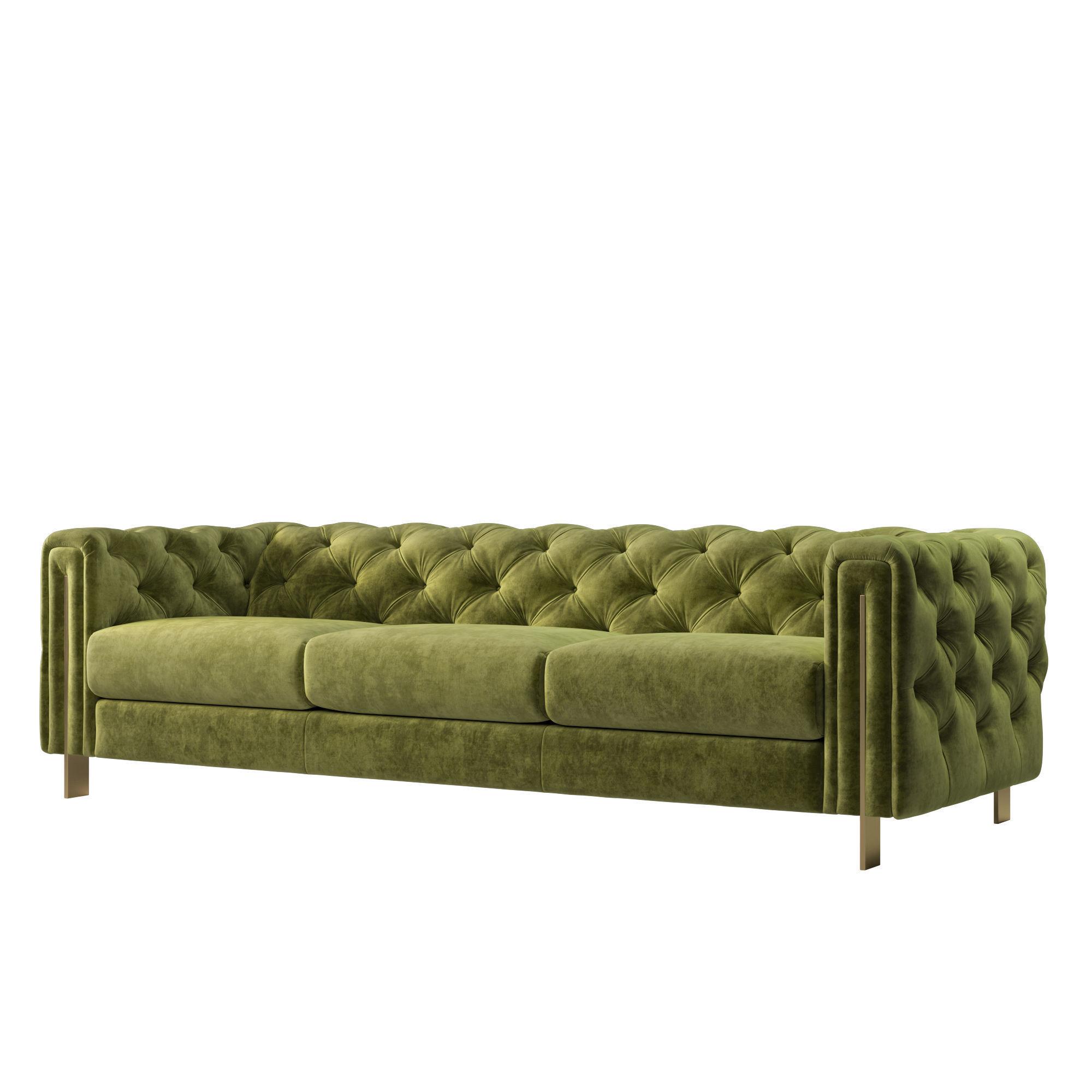 Acanva Luxury Chesterfield Vintage Sofa