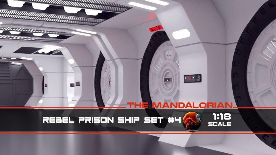 The Mandalorian - Rebel Prison Ship 4 - Cell Hallway 1-18 scale