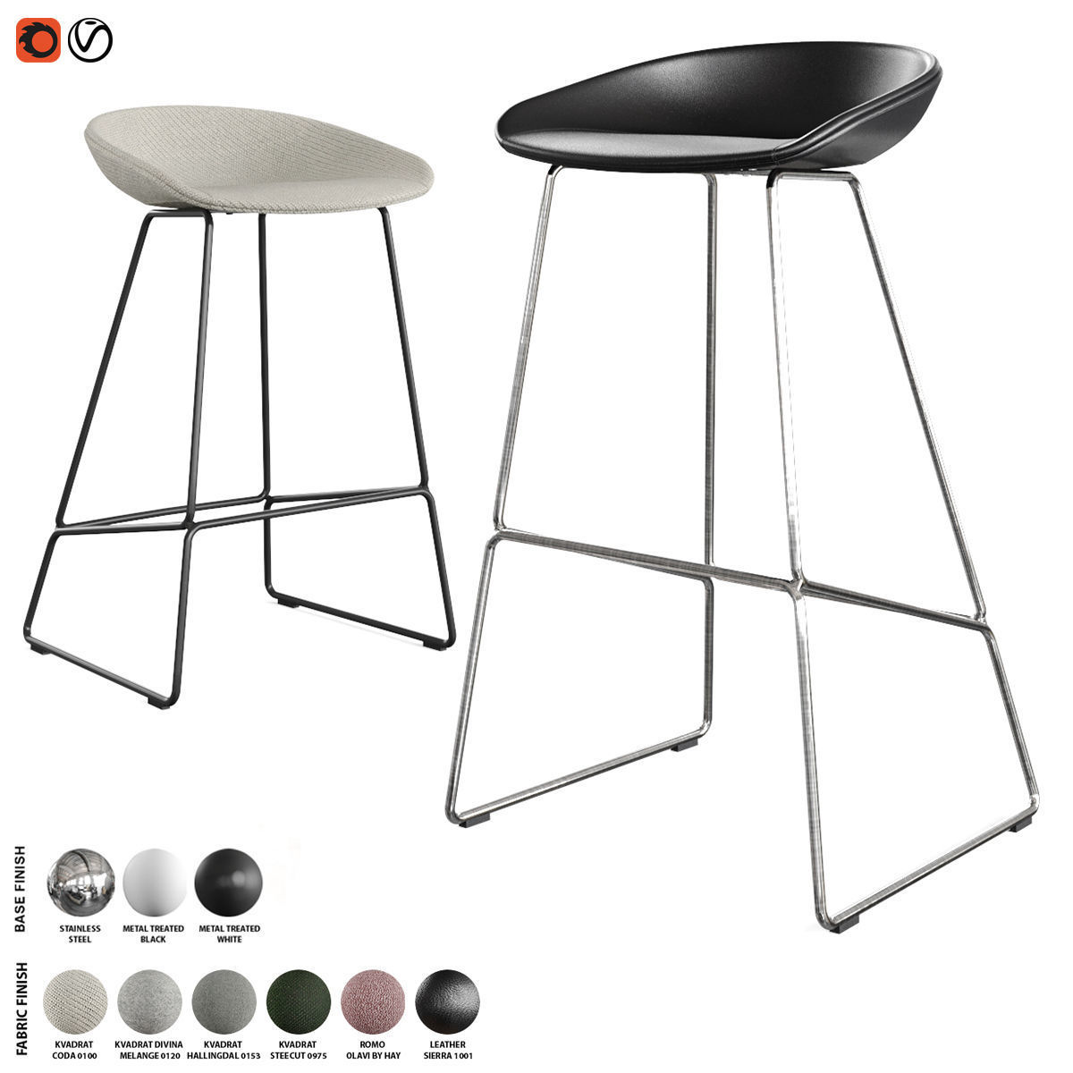 Hay - About A Stool Barstool and Counter Stool AAS 39