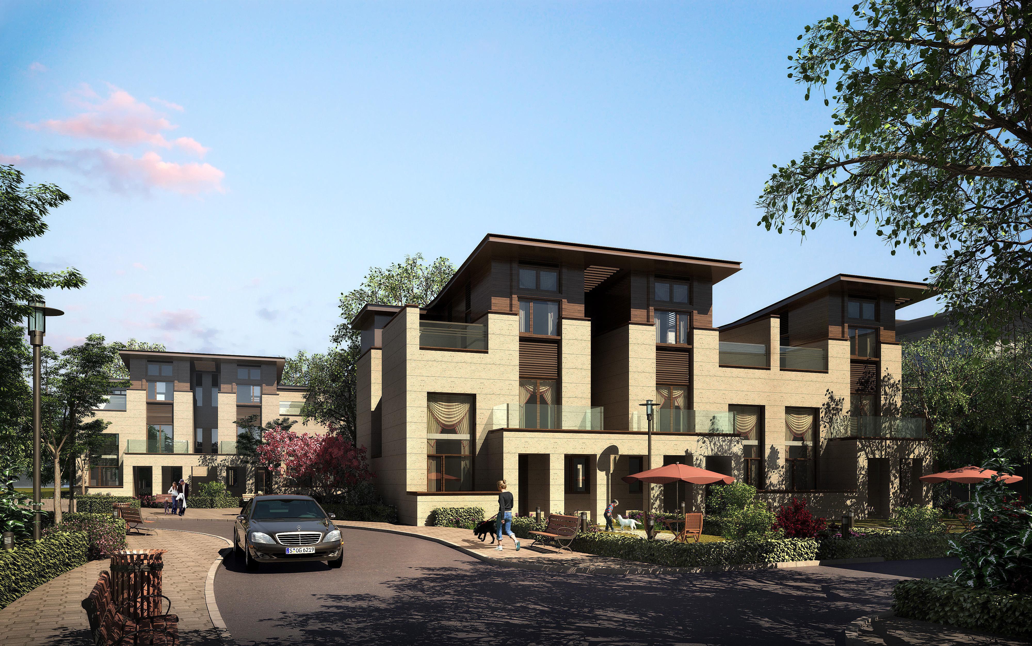 Modern Suburban Living House 3D Model M Grader.com - ^