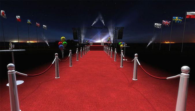 3d Asset Vip Red Carpet Pack Cgtrader