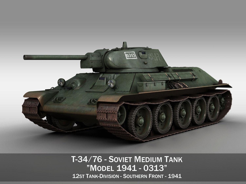 T-34-76 - Model 1941 - Soviet medium tank - 0313