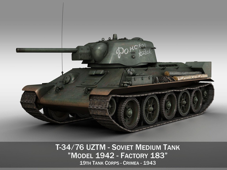 T-34-76 UZTM- Model 1942 - Soviet tank - 19 Tank Corps