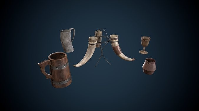 Viking Drinking Items Game-Ready