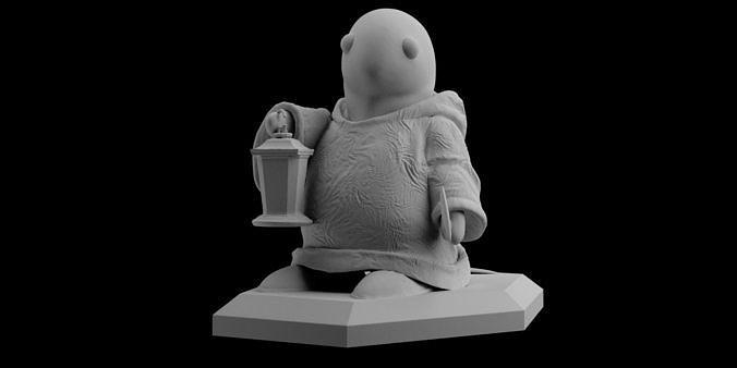 FF7 Remake Tonberry Final Fantasy Statue Sculpt 3D Print