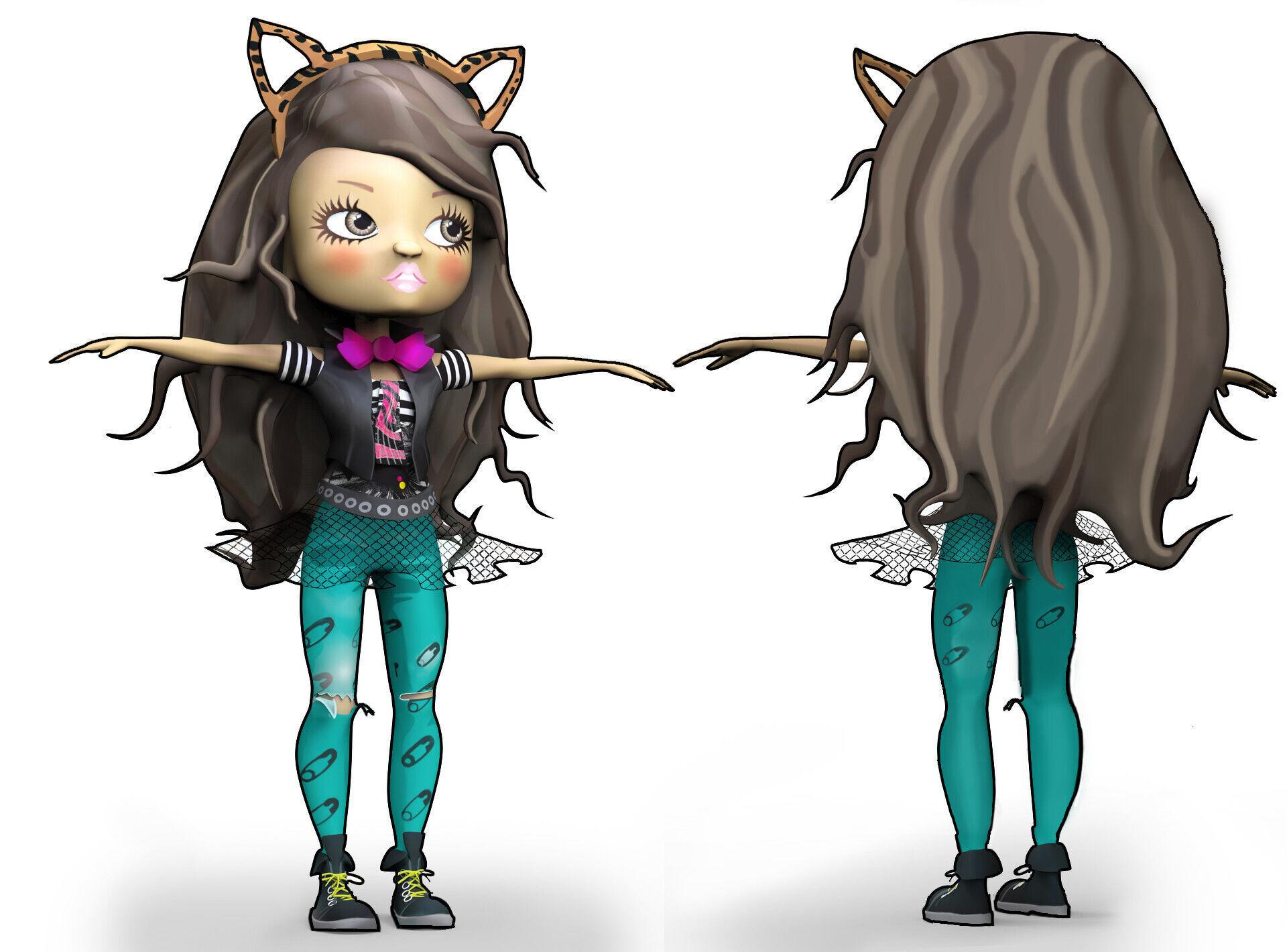 Middle School Moguls Character Study - ZBrush Model - Jada