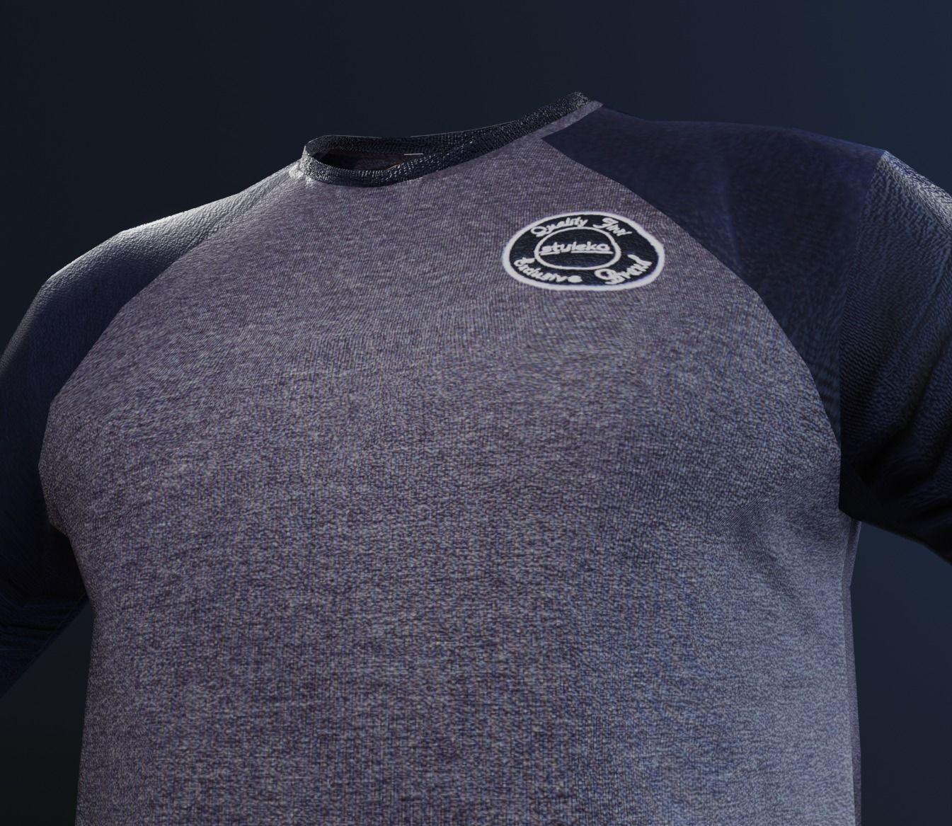 3d t shirt model animation