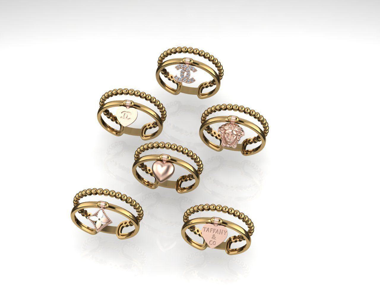 Chanel CC  Versace Tiffany Ring 2020 new