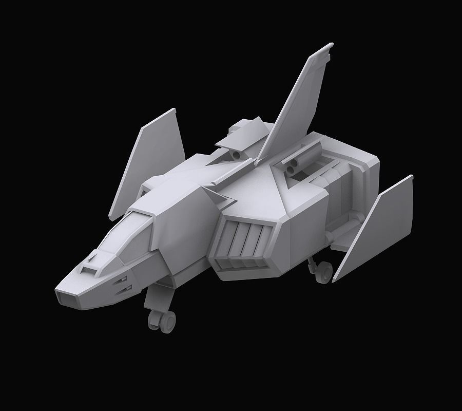 Gundam EF Corefighter model