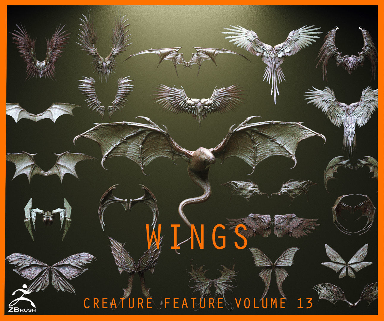 WINGS - 33 CREATURES MESHES
