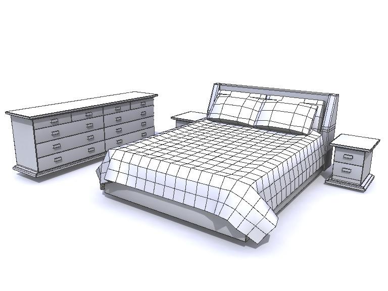 Bedroom Furniture 3d Models bedroom furniture 3d model obj ma mb mtl
