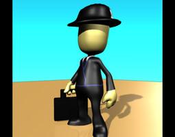 Business Man Pleb 3D model