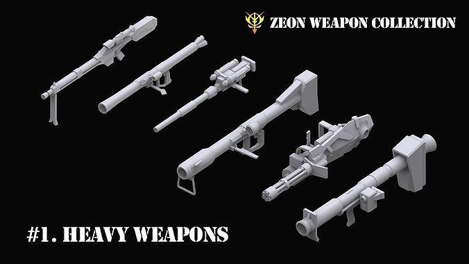 Gundam Zeon Heavy Weapons