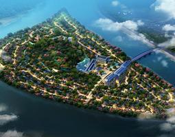 3D model Island Sky View