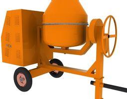 Concrete Mixer Machine 3D asset