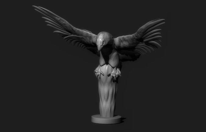 eagle sculpture 3d model obj stl 1