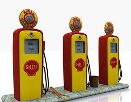 Gas Pump Shell 3D asset