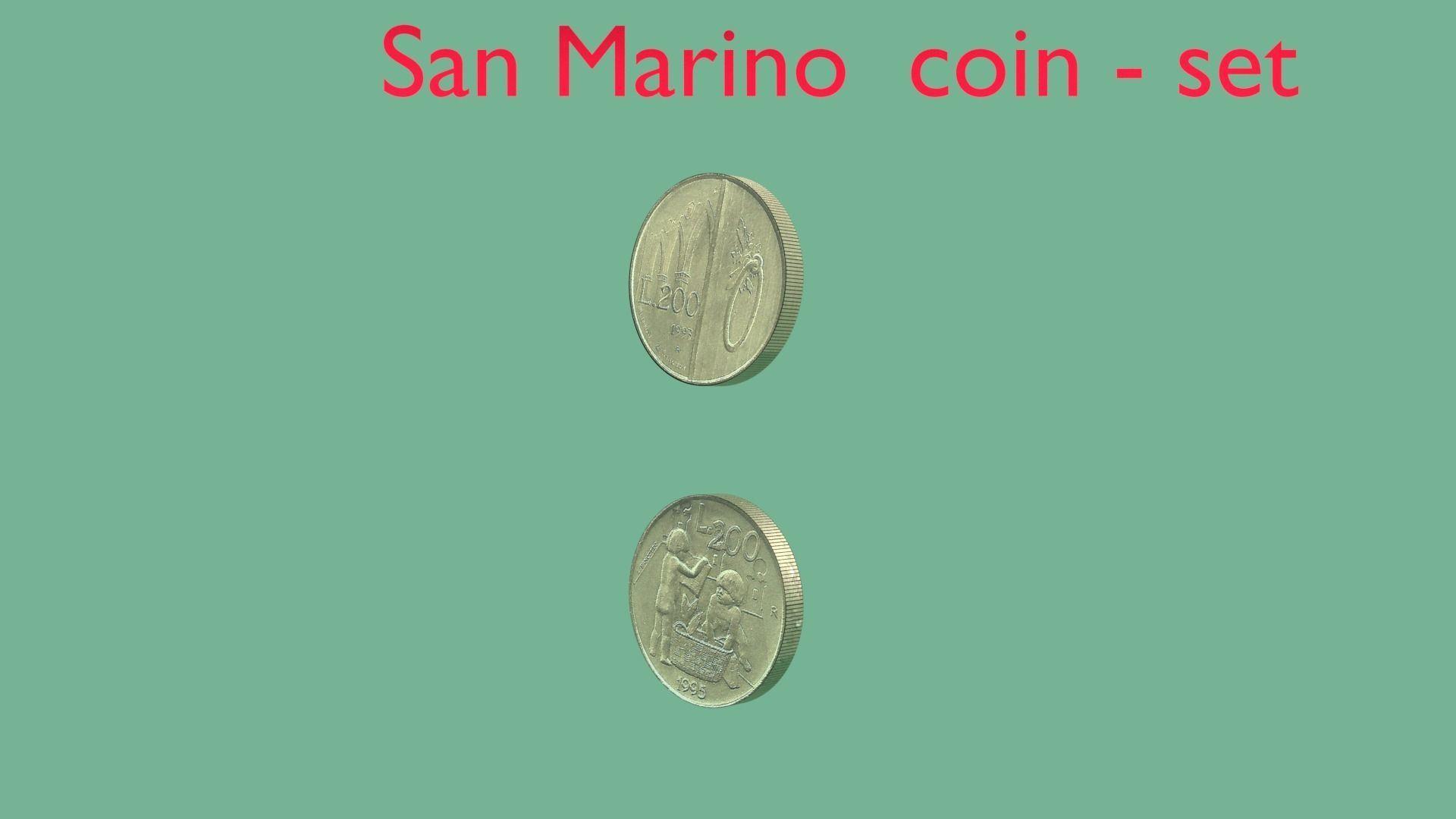 San Marino coin - set model