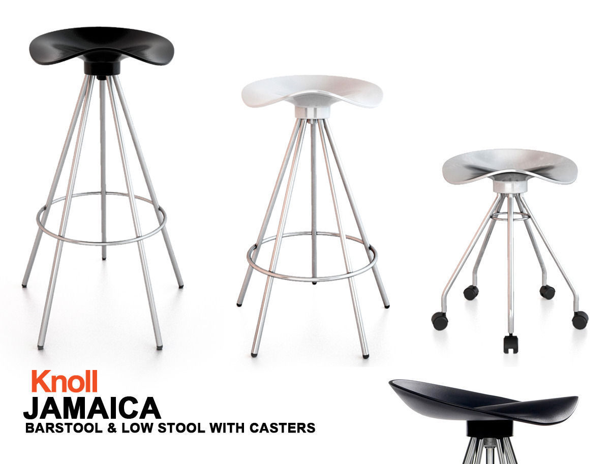 knoll jamaica chair barstool 3d model max obj fbx