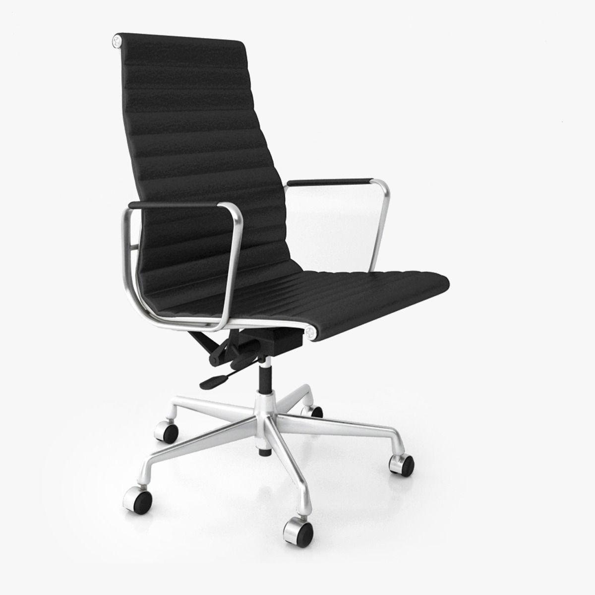 vitra aluminium office chair ea 119 3d model max obj fbx. Black Bedroom Furniture Sets. Home Design Ideas
