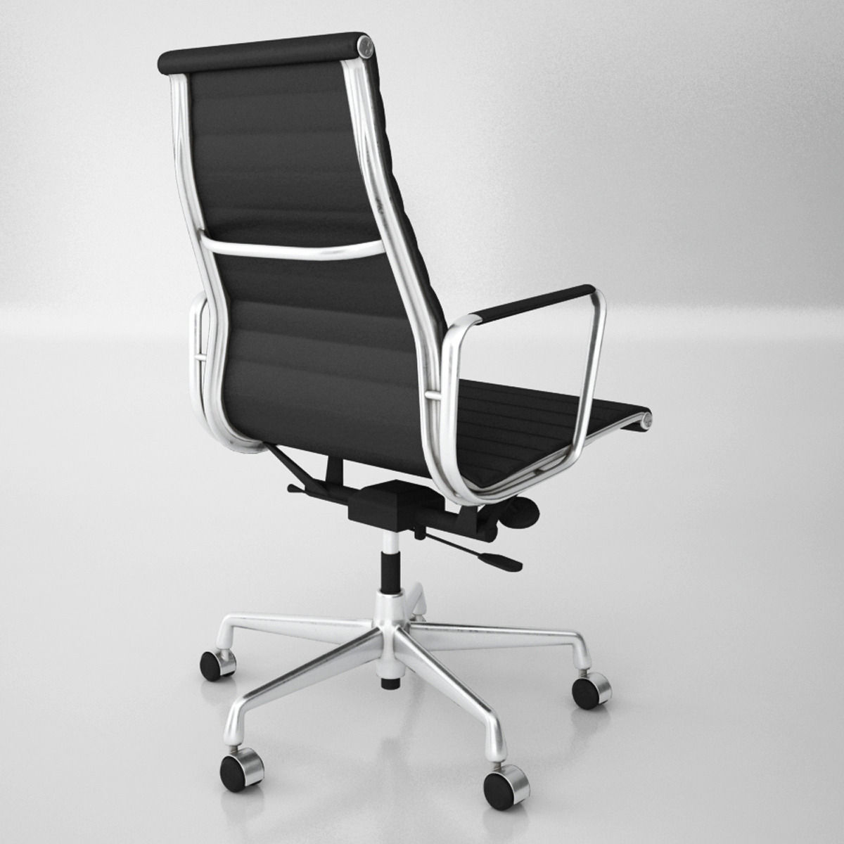 Vitra Aluminium Office Chairs Model Max Obj Fbx 4