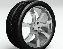 Tire Bridgestone Potenza 760 Sport Plus 3D Model