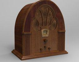 antique radio 3d