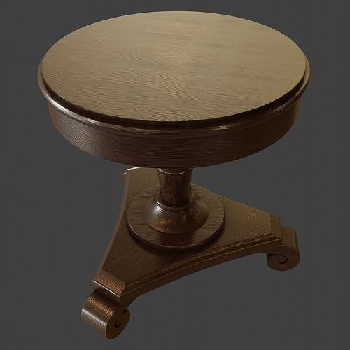 Old Rustic Round Table