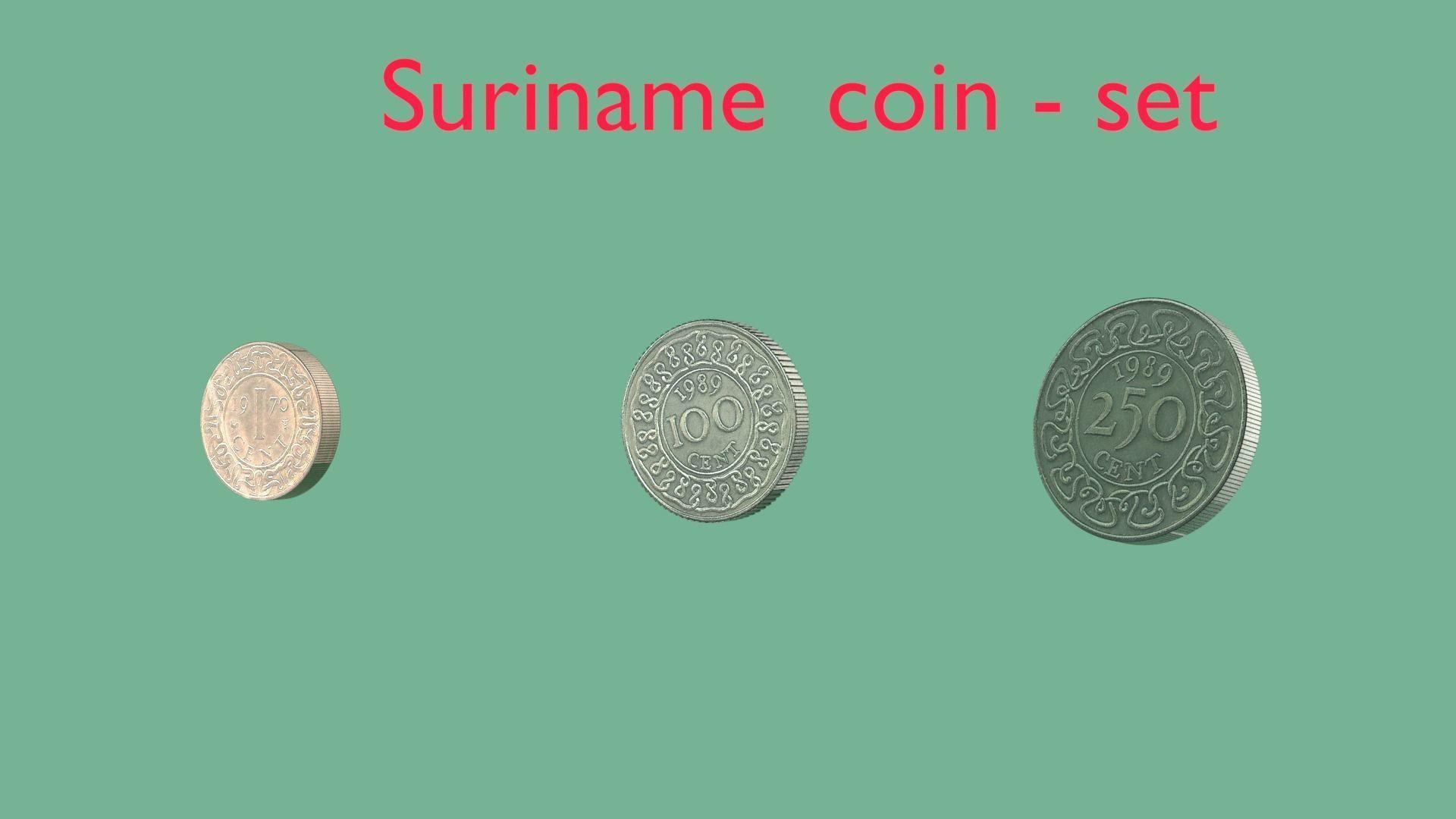Suriname coin - set model