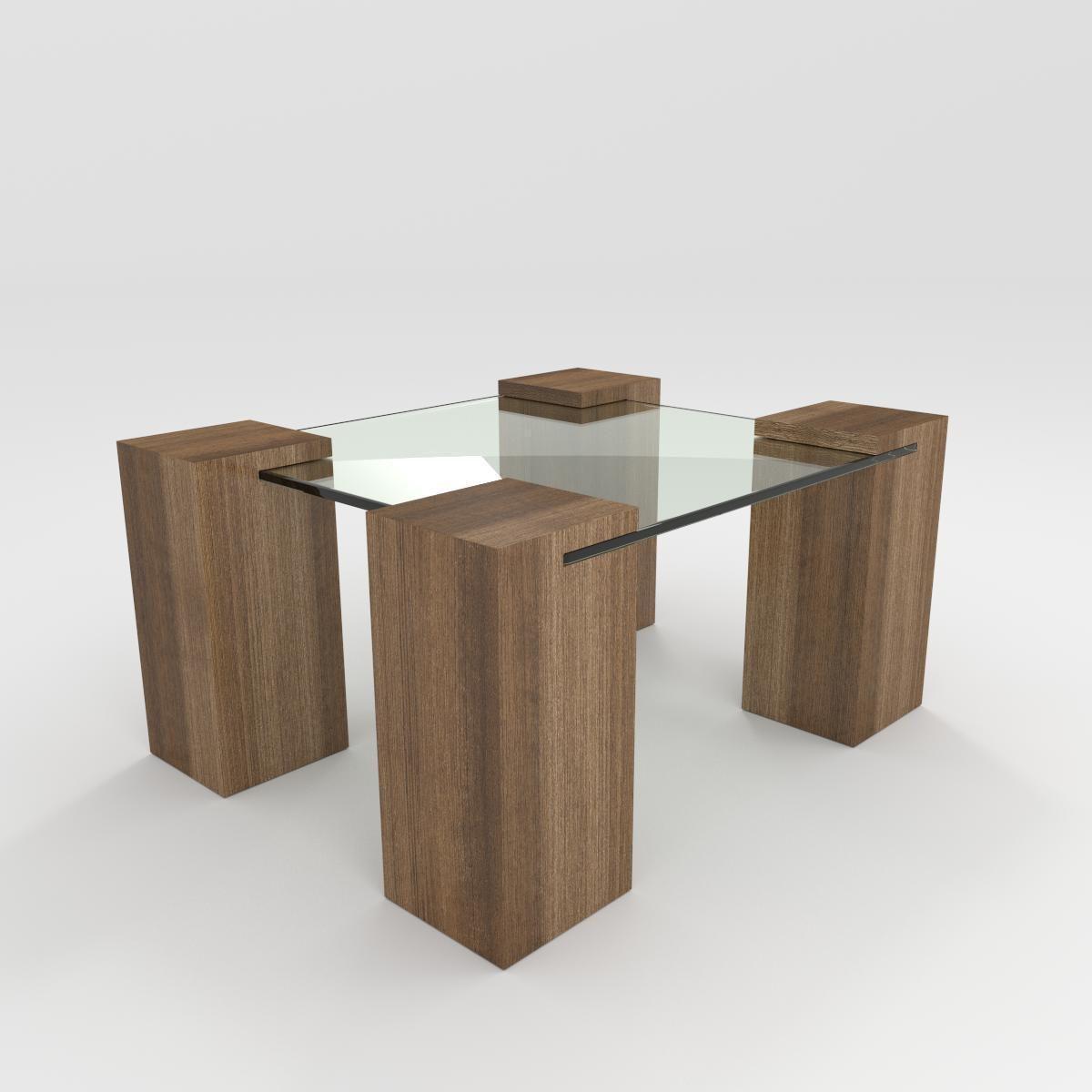 Coffee Table 3d Model Obj Fbx Blend Mtl